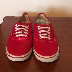 ✨VANS✨ Red Vans Sneakers